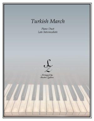 Turkish March -Late Intermediate Piano Duet