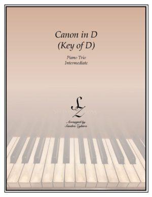 Canon In D (Key of D) – Piano Trio