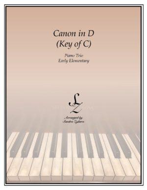 Canon In D (Key of C) – Piano Trio