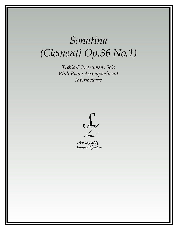 Sonatina-Clementi (Op. 36, No. 1) -Treble C Instrument Solo