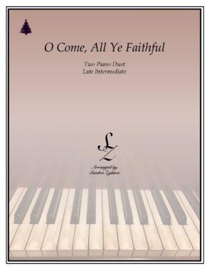 O Come, All Ye Faithful -Two Piano Duet