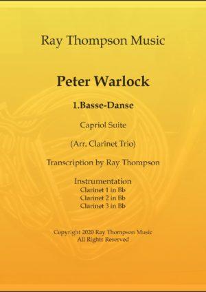 Warlock: Capriol Suite 1. Basse-danse – clarinet trio