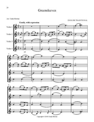 Violin Quartets for Christmas, Vol. II, 12 Quartets