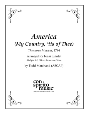 America (God Save the King/Queen) — brass quintet