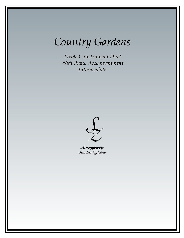 Country Gardens – Instrument Duet & Piano Accompaniment
