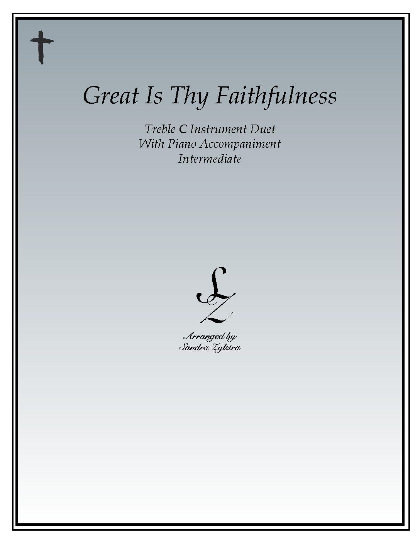 Great Is Thy Faithfulness – Instrument Duet & Piano Accompaniment