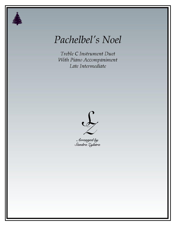 Pachelbel's Noel – Instrument Duet & Piano Accompaniment