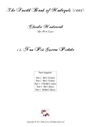 Flexi Quintet – Monteverdi, 4th Book of Madrigals – 15. Non più guerra pietate