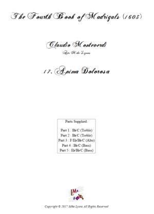 Flexi Quintet – Monteverdi, 4th Book of Madrigals – 17. Anima dolorosa