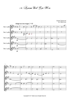 Flexi Quintet – Monteverdi, 4th Book of Madrigals – 18. Anima del cor mio
