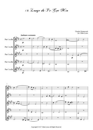 Flexi Quintet – Monteverdi, 4th Book of Madrigals – 19. Longe da te cor mio