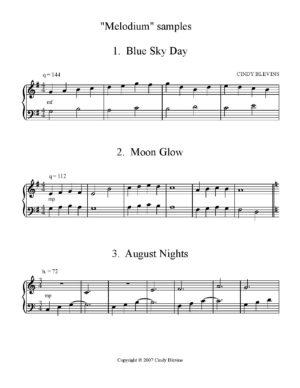 Melodium, 34 Easy, Progressive Original Piano Solos