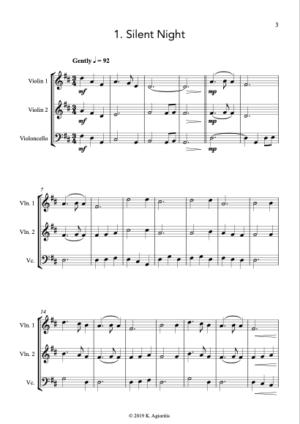 Carols for Three – 15 Carols for String Trio