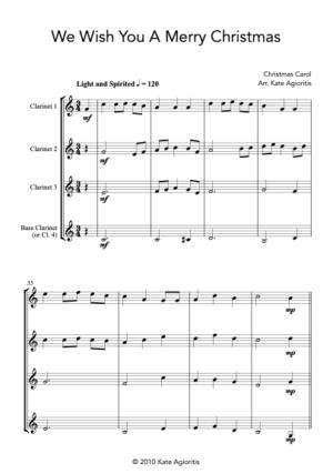 We Wish You A Merry Christmas – Clarinet Quartet