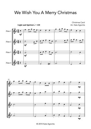We Wish You A Merry Christmas – Flute Quartet