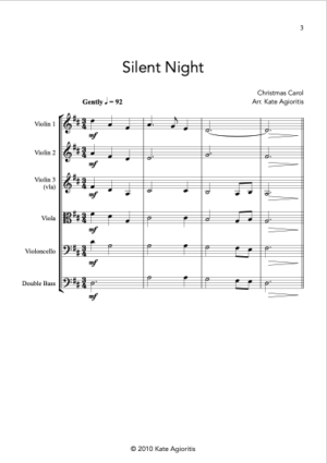 Silent Night – String Orchestra