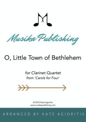 O Little Town of Bethlehem – Clarinet Quartet