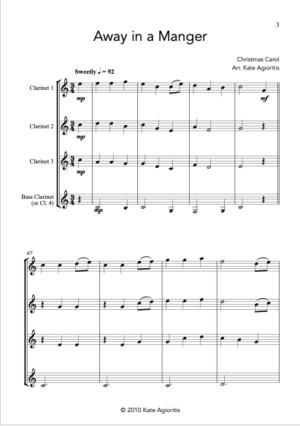 Away in a Manger – Clarinet Quartet