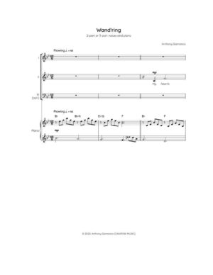 WAND'RING – 2-part/3-part choir & piano