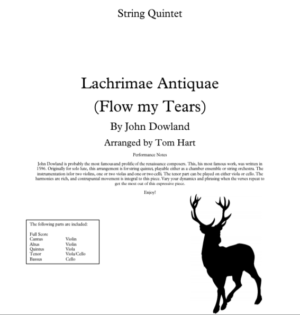 Flow My Tears – String Quintet