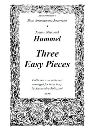 Hummel: Three Easy Pieces, arranged for lever harp