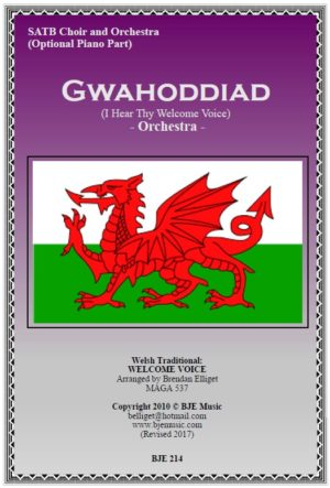 Gwahoddiad – SATB Choir and Orchestra