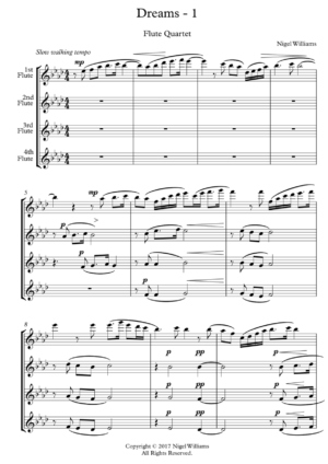 Dreams, for Flute Quartet