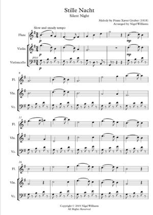 Stille Nacht – Trio for Violin, Flute and Cello