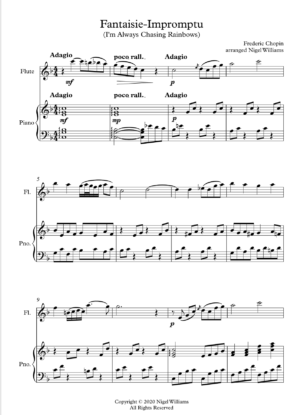 Fantaisie-Impromptu, for flute and piano