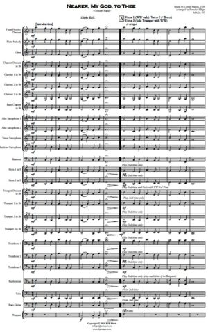 Nearer, My God to Thee – Concert Band