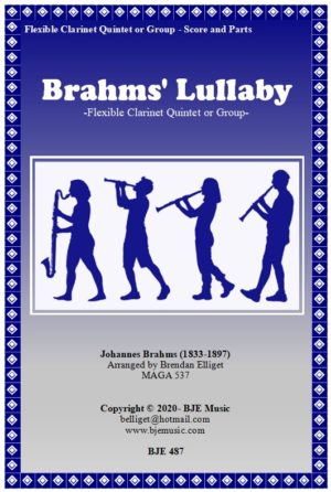 Brahms' Lullaby – Clarinet Quintet or Group