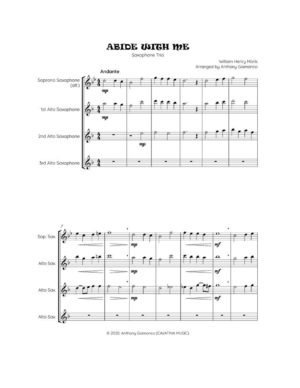 ABIDE WITH ME – saxophone trio