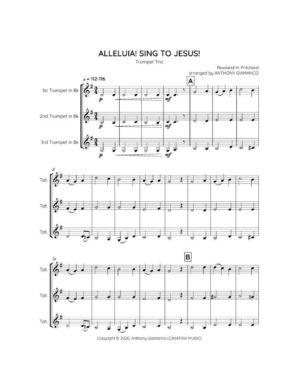 ALLELUIA! SING TO JESUS! – trumpet trio