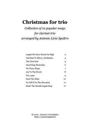 Christmas Carols for Clarinet Trio