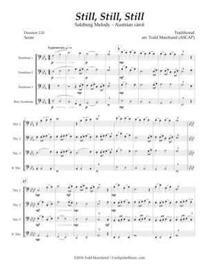 Still, Still, Still — trombone quartet