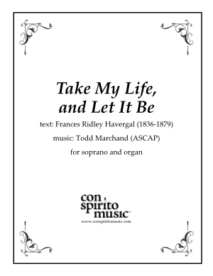Take My Life, and Let It Be — soprano, organ