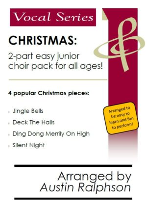 COMPLETE Christmas book for easy a cappella 2-part choir (4 pieces)