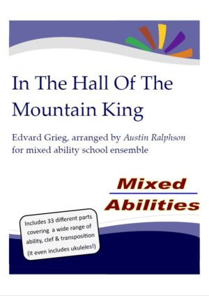 HALLOWEEN: In The Hall Of The Mountain King for school ensembles – Mixed Abilities Classroom and School Ensemble Piece