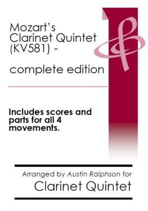 Mozart Clarinet Quintet KV581 (complete – all 4 movements) – clarinet quintet