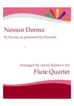 Nessun Dorma – flute quartet