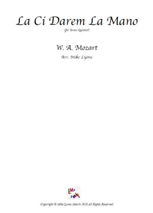 La ci Darem la Mano – Mozart – Brass Quintet