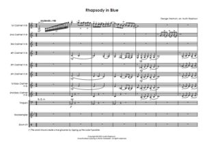 Rhapsody In Blue – clarinet choir / clarinet ensemble