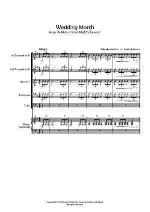 The Wedding Pack – brass quintet book / bundle