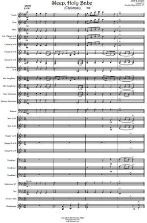 Sleep Holy Babe (Christmas) – Concert Band