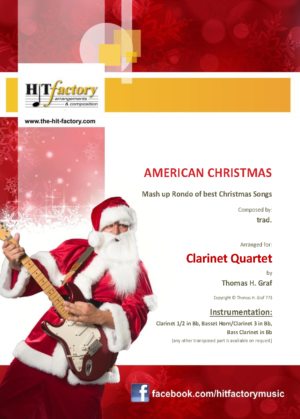 American Christmas – Mash up Rondo of best Christmas Songs – Clarinet Quartet