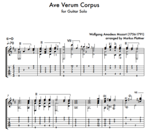 Ave Verum Corpus (Mozart) – for Guitar Solo