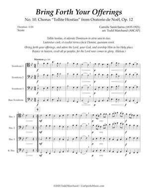 Bring Forth Your Offerings — trombone quartet
