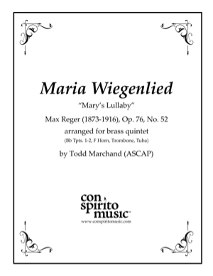 "Maria Wiegenlied (""Mary's Lullaby"") — brass quintet"