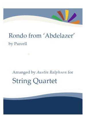 Rondo from The Abdelazer Suite – string quartet