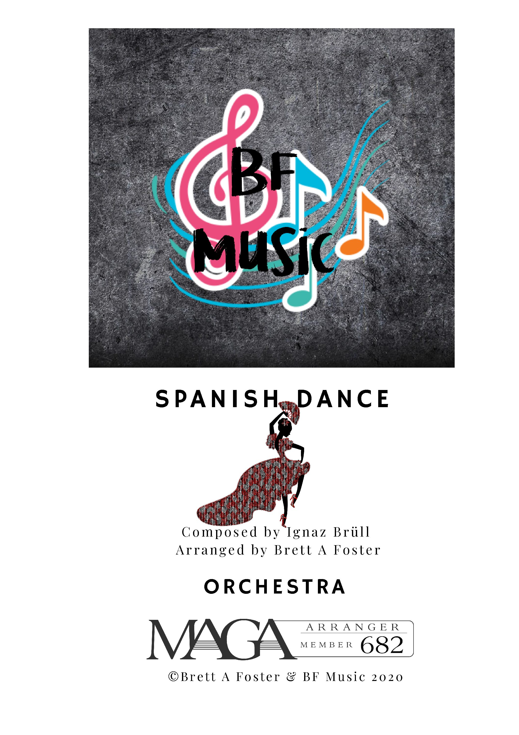 Spanish Dance for Concert Band by Ignaz Brüll